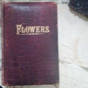 Antique 'TRIBUTE TO FLOWERS' Book